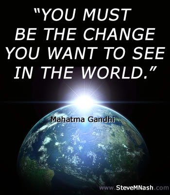 Gandhi Quote: Be The Change