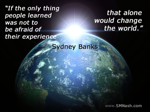 Sydney Banks quote | planet earth image