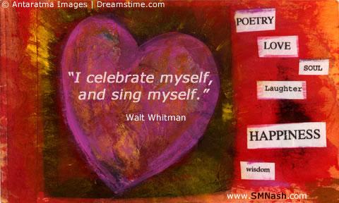 Valentine's Day Image - Walt Whitman Quote | Self-Love
