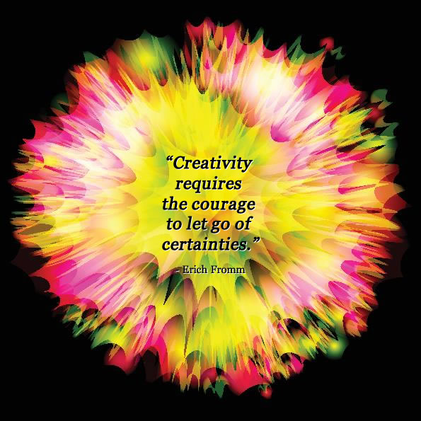 Creativity quote by Erich Fromm | Colourful creative 'splash' image