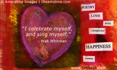 Valentiine's Day Image - Walt Whitman Quote | Self-Love