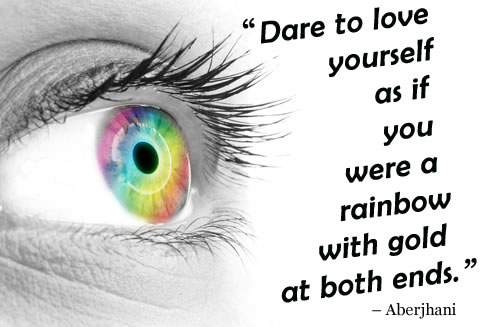 Validation quote by Aberjhani | Image of an eye