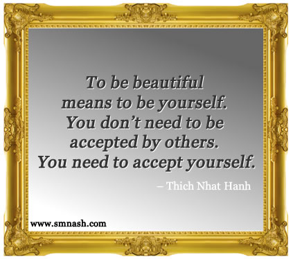 Love and accept yourself quote