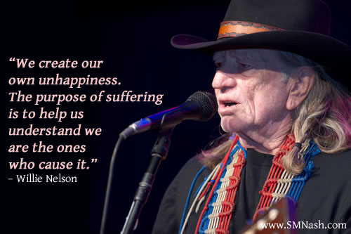 suffering quotation by Willie Nelson