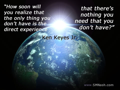 World image, bright light, ken keyes jr quote