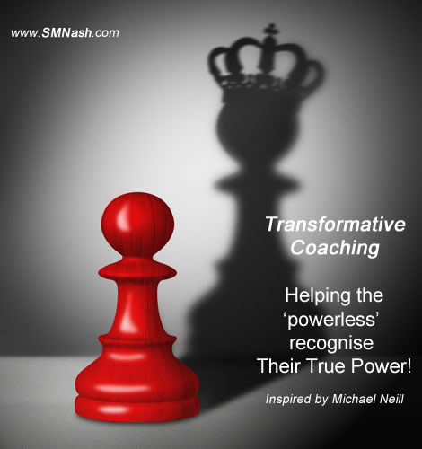 Queen and pawn chess pieces - transformative coaching definition