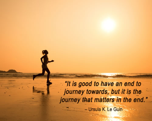 Importance of Journey quotation by Ursula K. Le Guin | being myself more