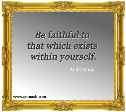 Quote by Andre Gide | Self Esteem Quotes