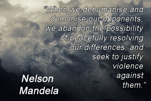 Nelson Mandela Quote | Angels and Demons | Swirly Clouds Of Dark and Light Grey