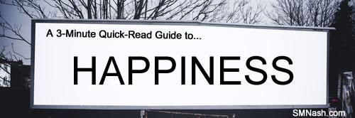 Happiness on billboard image