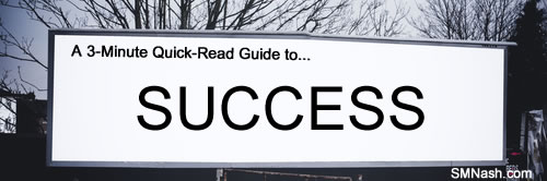 Success word on advertising banner