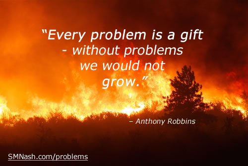 forest fire image | tony robbins problem quotes - problem solve post