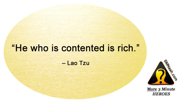 Inspirational quote about feeling contented