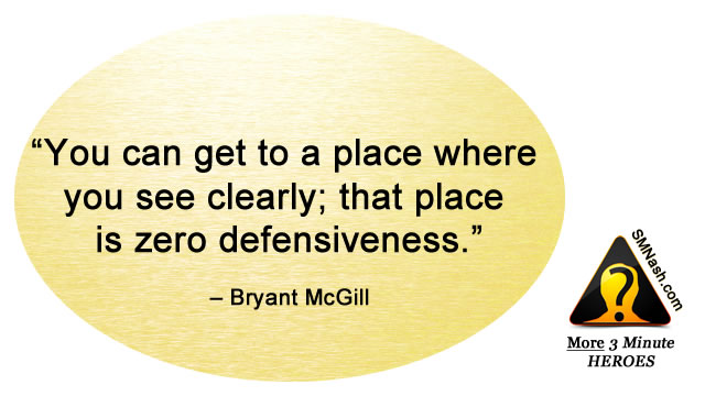 Inspirational quote about feeling defensive