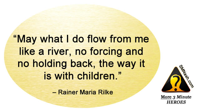 Inspirational quote about feeling in flow