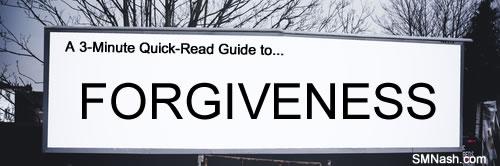 'Forgiveness' word on billboard image