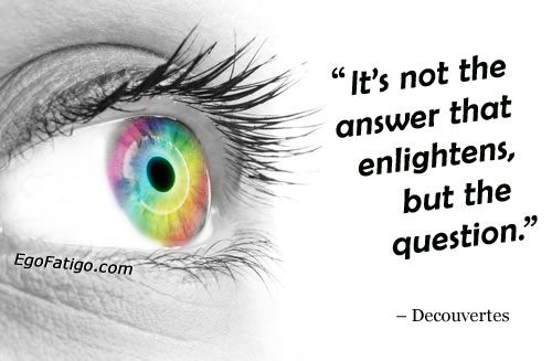 descartes quote about questions and an eye | email coaching (transformative coaching by email)