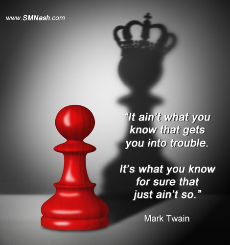 work with me | image of pawn and queen | mark twain quote