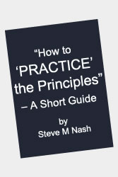 How to practice the principles book - yours free, when you join!