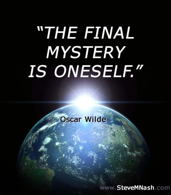 """Oscar Wilder quote: """"The final mystery is oneself."""" 