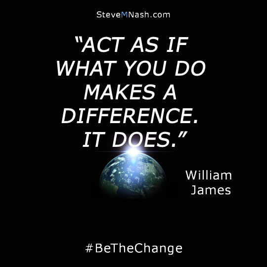 "William James quote: ""act as if what you do makes a difference. It does"" 